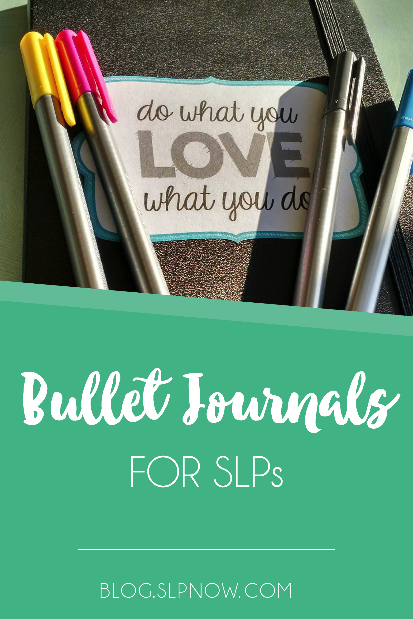 Have you jumped on the bullet journal bandwagon? I have, and I can say that I've been really happy with this system so far! I love all of the ways that I can personalize it to my needs, which is why I think a bullet journal is a great choice for other SLPs, too. Read my thoughts in this post, and check out a scope on it!