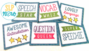 Looking for ways to increase your students' goal awareness and engagement in speech therapy? You and your students will love these progress monitoring decks! I describe how I use them in my therapy room and how you can adapt them to personalize them for use by you and your students. Get all of the details in this post!