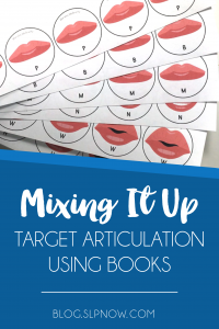 Looking for some new activities to use in therapy? Here is a round-up of literacy-based activities that you could use to target ARTICULATION in your speech room tomorrow!
