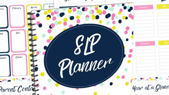 Struggling to stay organized and manage your busy SLP life? Take a peek at this beautiful and customizable planner (made just for SLPs)!