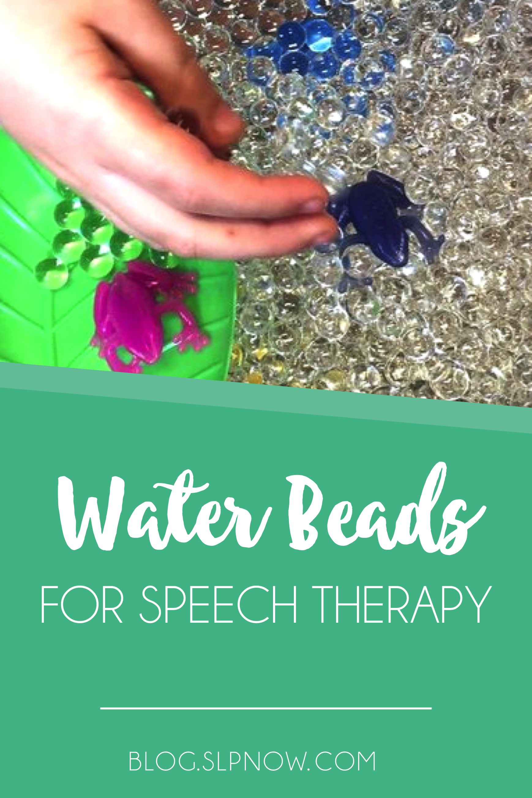 Have you used water beads in your speech therapy room? They are a fun tool that you can integrate with a variety of speech and language skills, including following directions, articulation, turn-taking, and more! Plus, kids loving working with them, and it makes speech more relaxing for them! Learn more about them in this post.