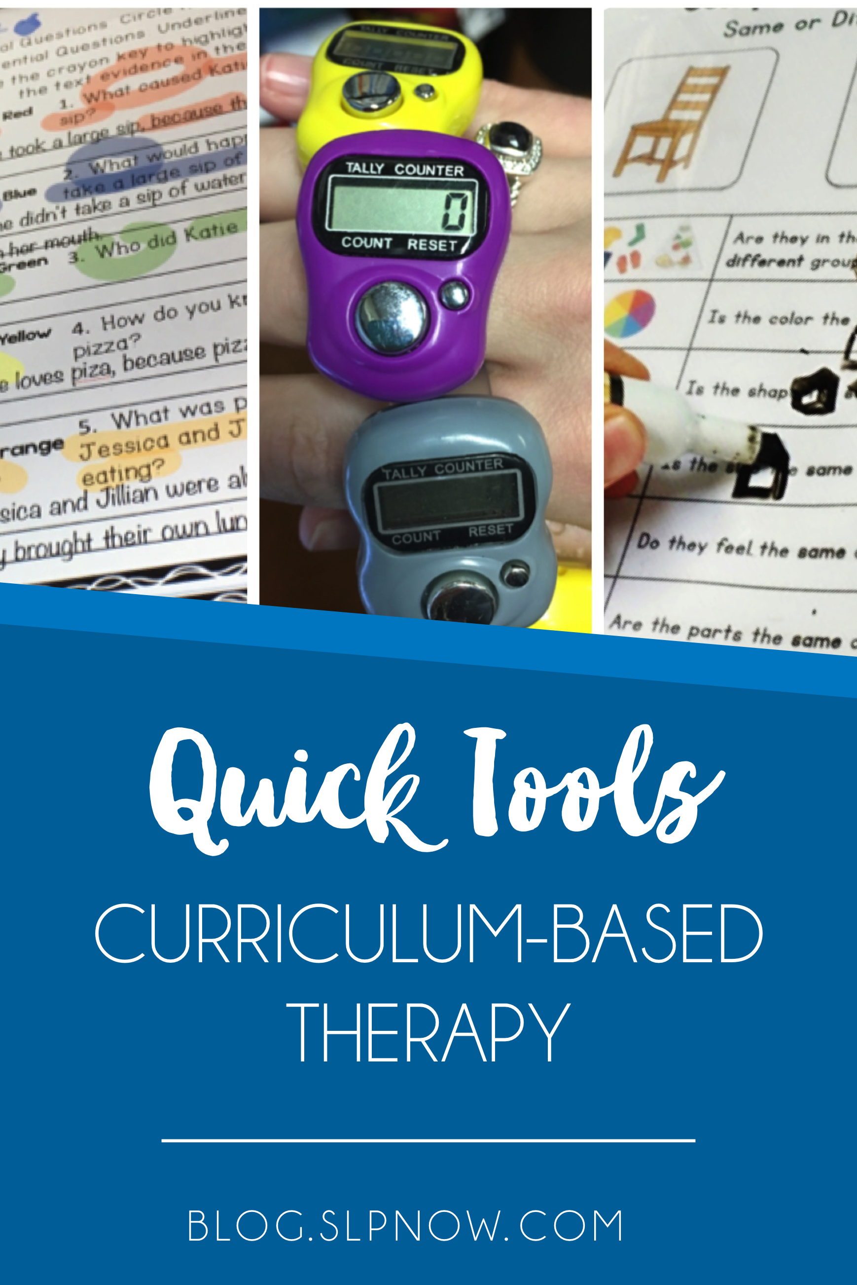 There's been a push lately toward curriculum-based therapy, which isn't always fun - for kids or for us. That's why I've compiled this list of quick tools that you can use in speech therapy to make it more fun and engaging for the kids. Click through to see my recommendations!