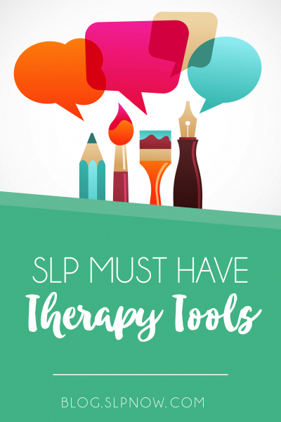 I'm sharing my top 10 must-have therapy tools for SLPs in this blog post. Which tools are you already using in your speech therapy room? Which tools do you still need? Click through to read about all 10 tools - and to suggest more tools that you love!