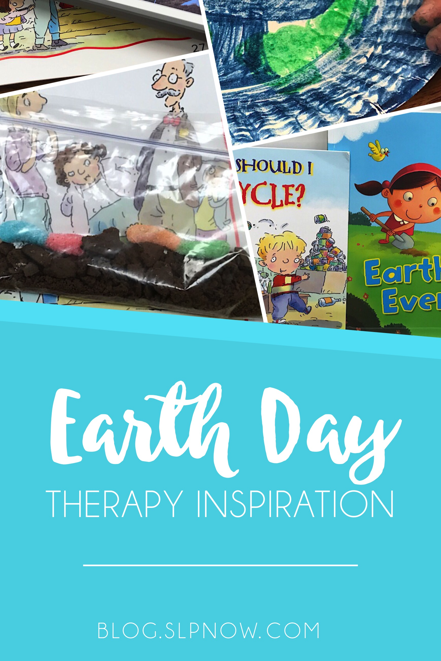 Feeling bored in therapy? Check out this post for a round-up on therapy ideas around a EARTH DAY theme!