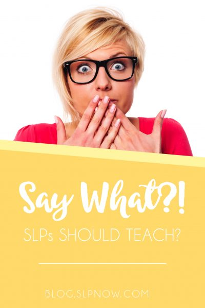 SLPs need to teach skills in therapy. Wait, what?! Learn more about how (and why) this SLP teaches skills in therapy in this blog post.