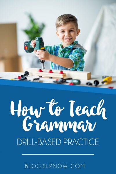 There is a time and a place to teach grammar using drill-based practice. Using a variety of research studies, I provide suggestions for how to go about doing this in your speech room. This post is part of my How to Teach Grammar series, so click through to read this one and get links to the other posts.