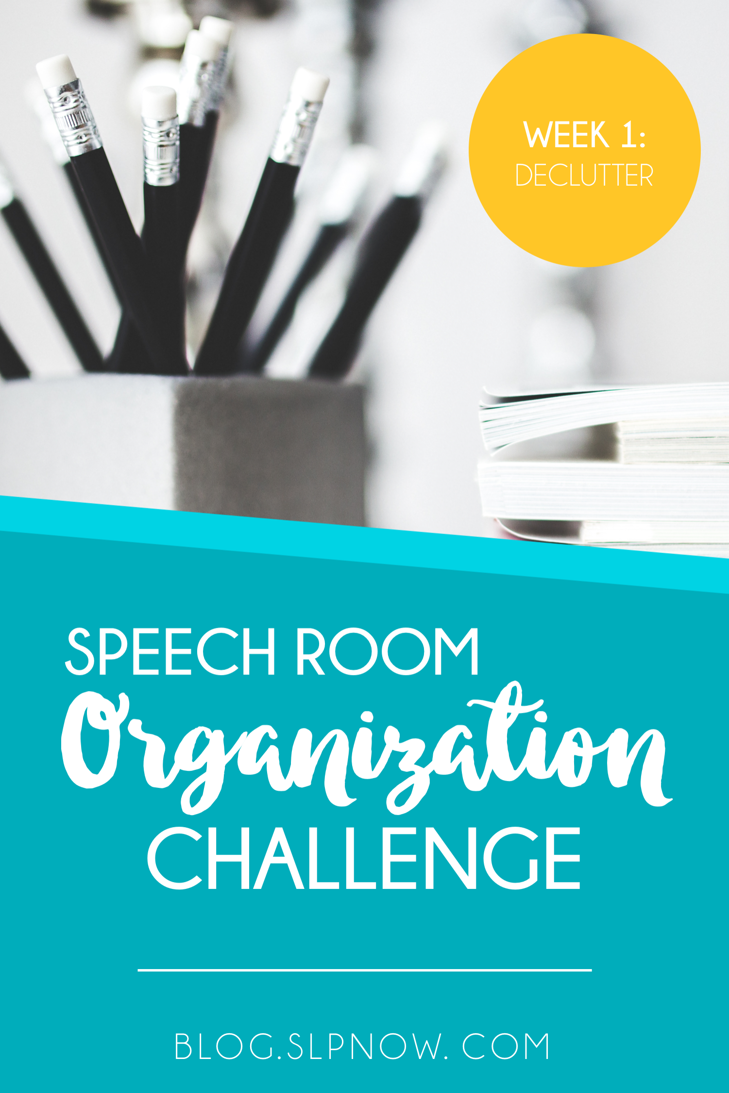 Speech rooms are not very big at all, as we SLPs know, so it's super important to declutter our rooms and keep them neat and organized. But, that's easier said than done, isn't it? This blog post is the first in a series that provides steps to declutter your speech room, so click through to read more!