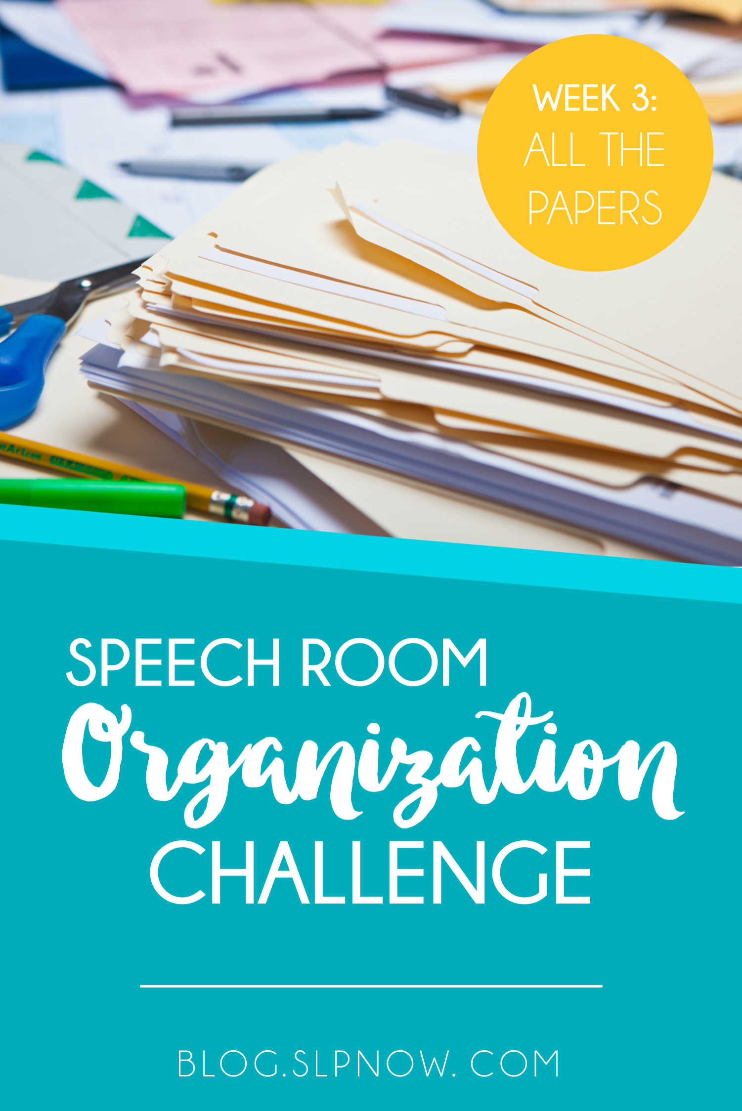 Every SLP has WAY too many paper materials! Between therapy materials, IEP documentation, and everything else, our rooms get cluttered and disorganized fast. Check out the list of tools in this post, all of which will help you organize the paper materials in your speech room!