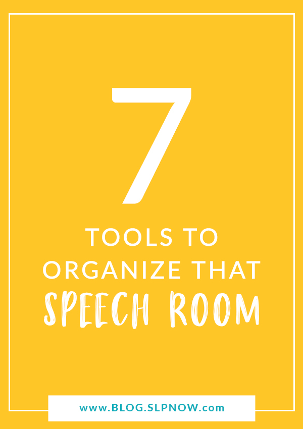 Need some help keeping all of your amazing TPT speech therapy materials organized? See how this SLP keeps her speech room organized!