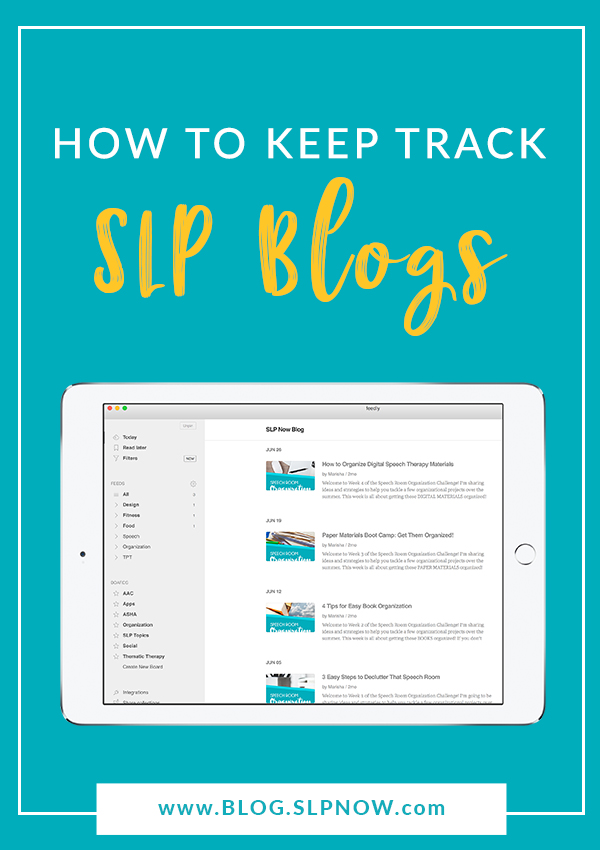 Looking for a way to keep up with your favorite SLP blogs for free and FUN professional development? Look no further! This post explains how you can use Feedly, a free app, to follow your favorite SLP blogs and stay up-to-date with their content.