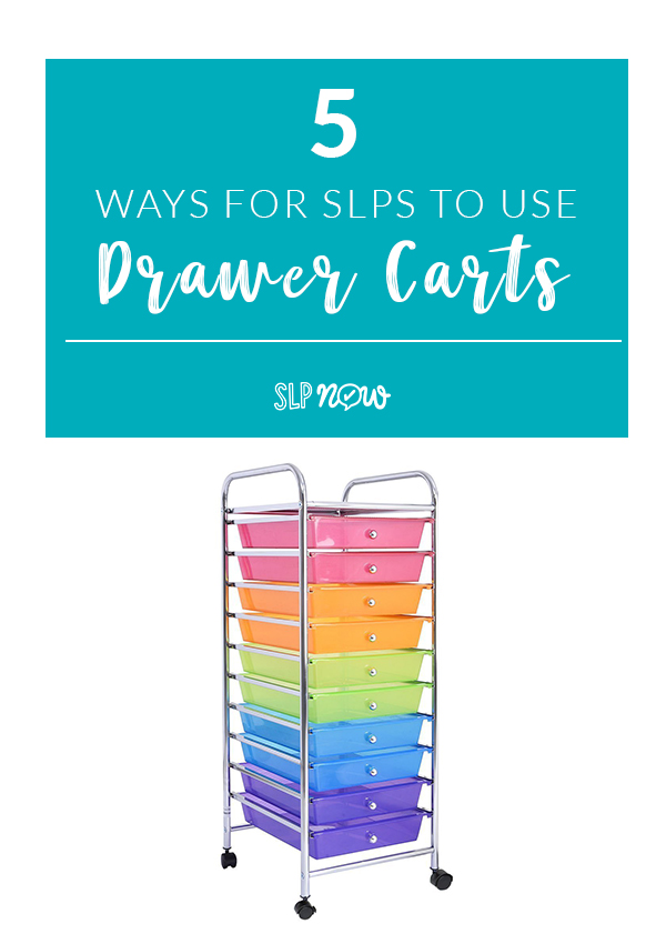 Drawer carts are a serious lifesaver in schools! I use my drawer cart for lots of different things, so I'm sharing all of my favorite speech room organization tips using a drawer cart in this post. Time to get organized!
