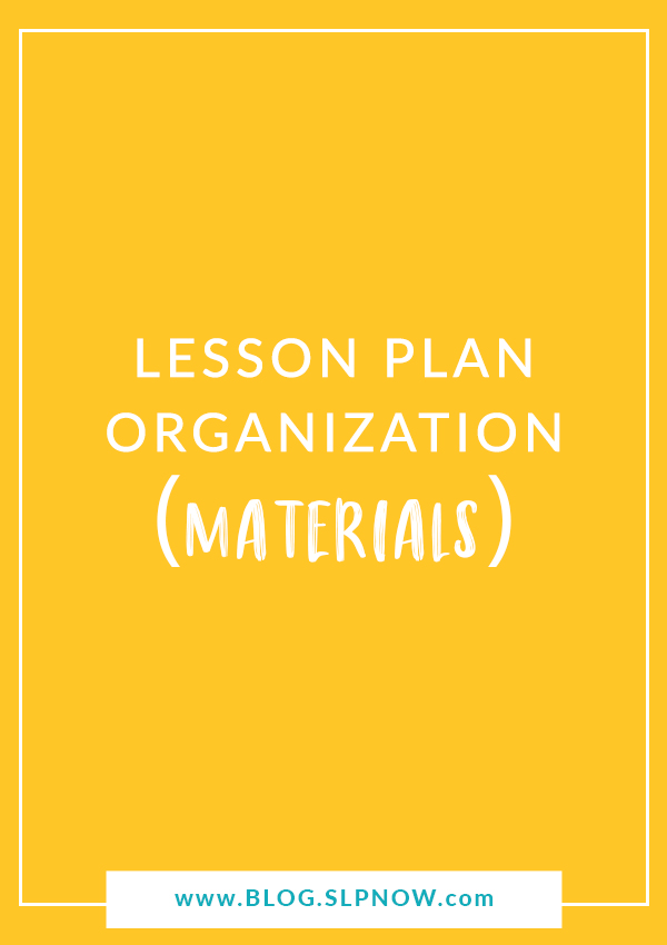 Do you struggle to find the speech therapy materials that you need for your sessions? Read about three quick and easy tools to organize your materials.
