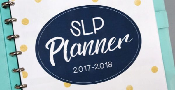 A planner just for SLPs! It is filled with templates to help you manage your caseload in style!