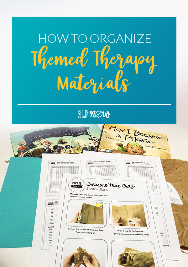 Struggling with your speech room organization? You are NOT alone! I have tons of themed materials for my speech therapy room, so I dedicated this blog post to sharing all of the ways I keep those materials organized so that I can save myself time - and save my sanity! Click through to read my suggestions and get links to my recommended storage resources.