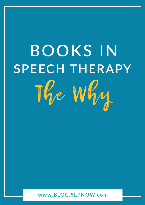 Do you use books in speech therapy? Check out my top five reasons for implementing literacy-based therapy with my caseload!