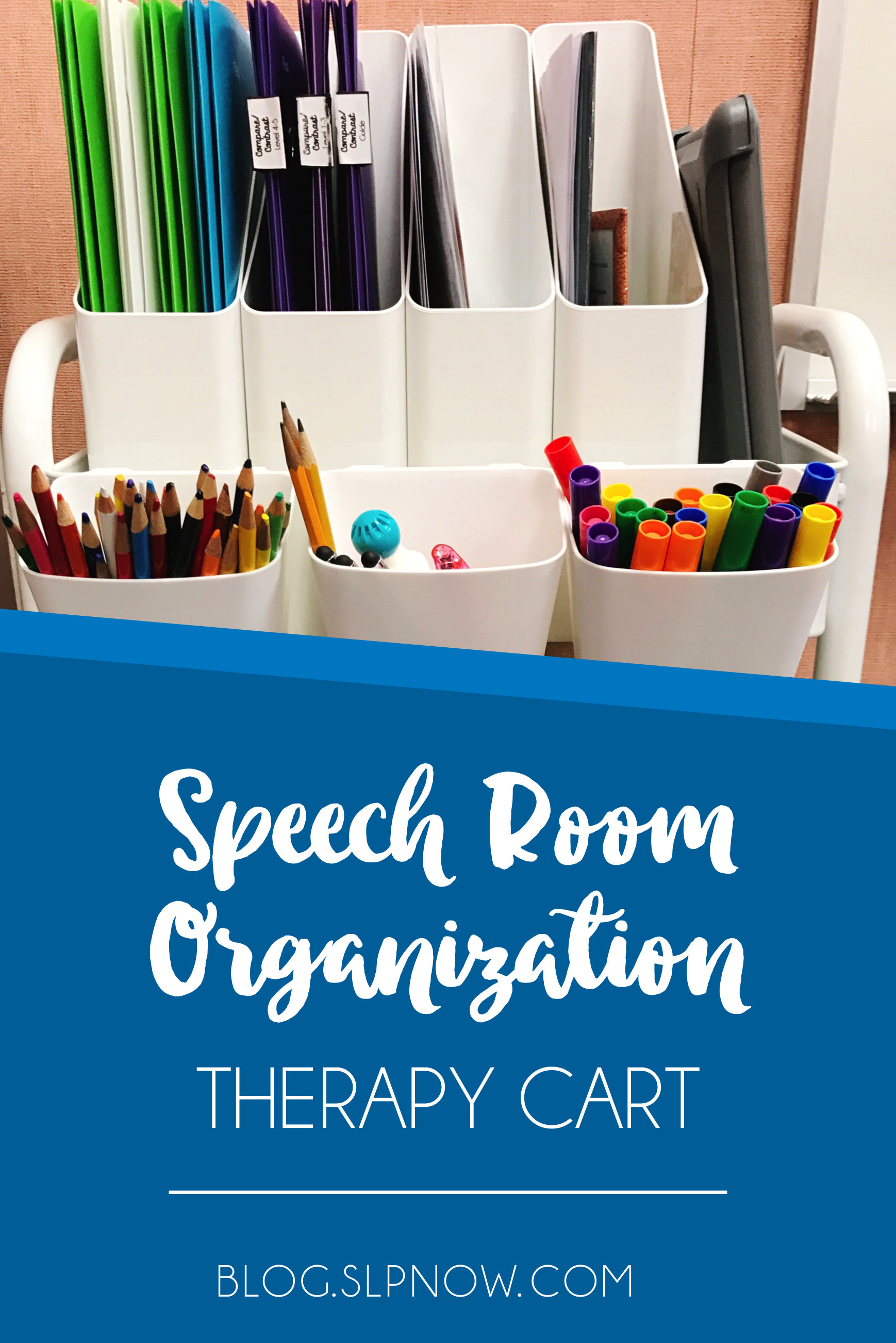Do you use a speech therapy cart in your speech room? My cart has quickly become one of my favorite and easiest ways to organize my speech materials and resources. I'm explaining where I got my cart, the containers I use, and how I organize my cart in this blog post, so click through to read all of the details!