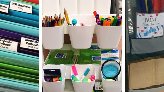 When it comes to speech room organization, you probably have a need for lots of tools to help you organize your materials. This post is a tools roundup, and it includes my recommendations for all of my favorite tools that will be great additions to your speech therapy room!