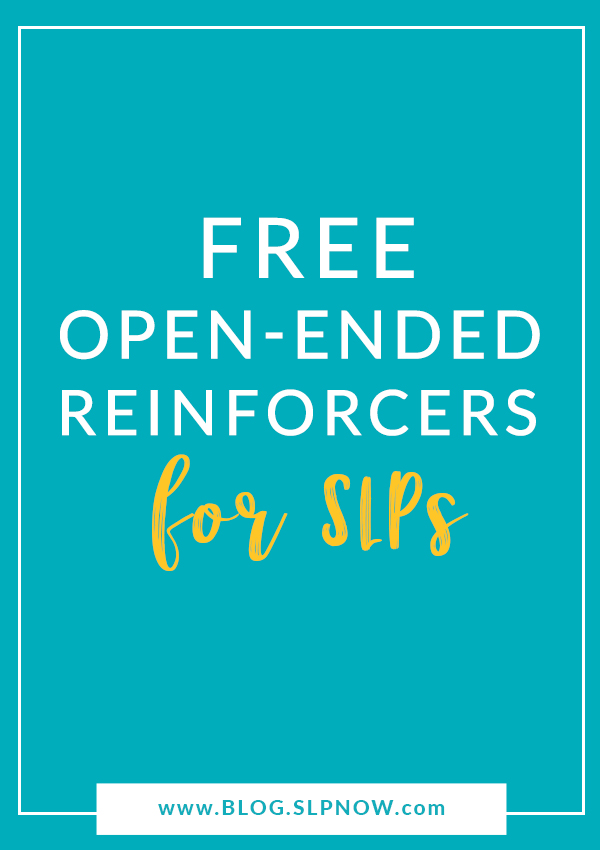 Looking for ways to keep your students engaged in speech therpay? I've rounded up a long list of FREE open-ended reinforcers from a variety of teacher-sellers that you can download now and use right away! Plus, the themes span the entire year, so you'll have something for every season!