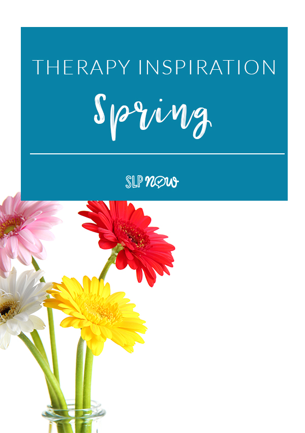 Check out this post for some therapy inspiration! This SLP shares theme-based activities and books for SPRING!