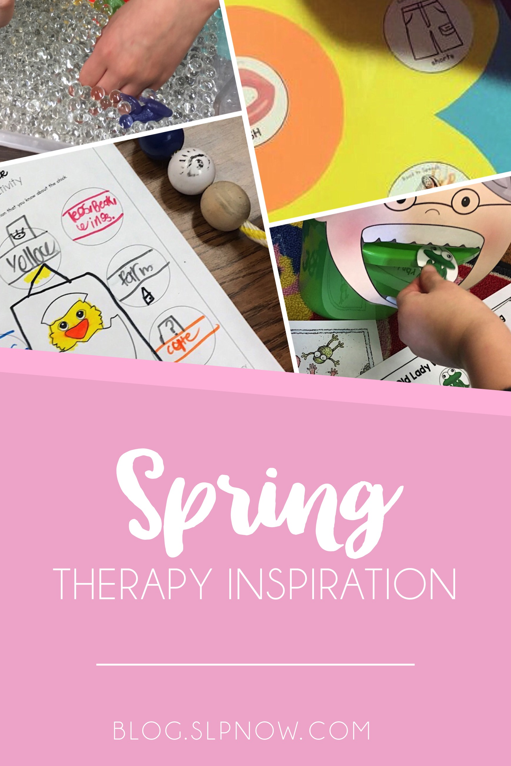 Feeling bored in therapy? Check out this post for a round-up on therapy ideas around a SPRING theme!