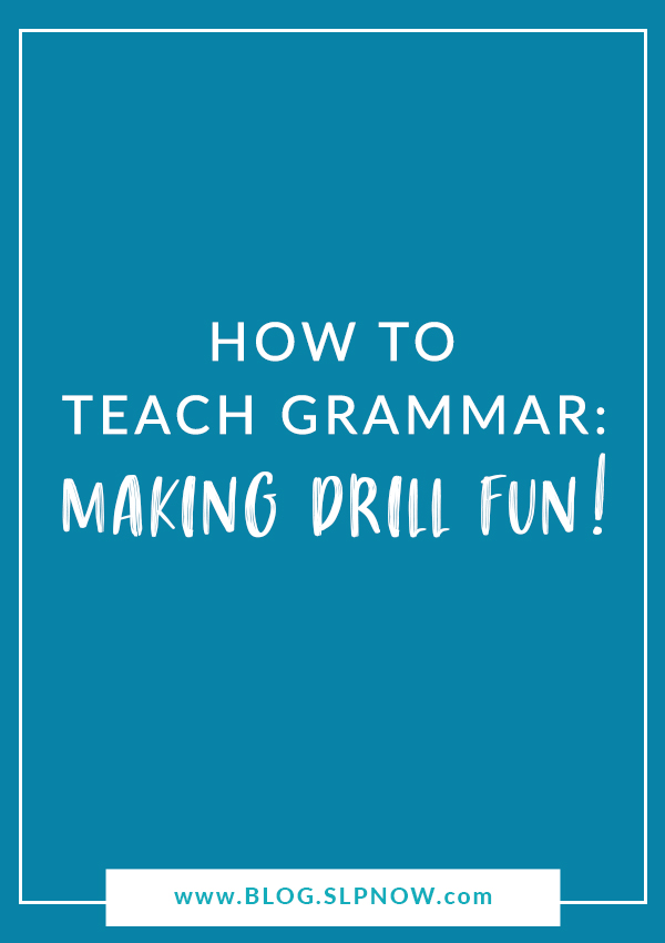 Struggling to keep your students engaged during grammar drill? Check out this blog post for strategies to make grammar intervention FUN!