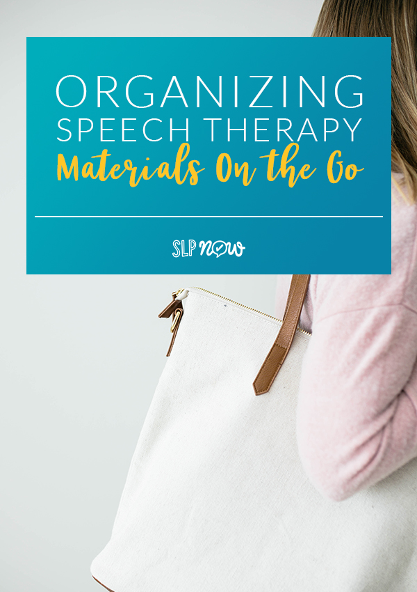 Ready for more speech room organization tips?! This week we're talking more about organizing speech therapy materials--using a therapy tote! Learn a few ways you can organize various materials in a tote. Video tutorials included!