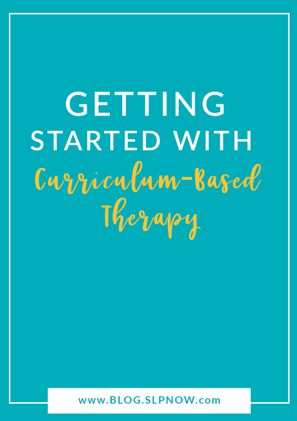 Diving into curriculum-based therapy can certainly feel overwhelming, but I've been working on compiling plenty of tips, blog posts, articles, and tools to help SLPs! Click through to read this post that shares more information on getting started with curriculum-based therapy.