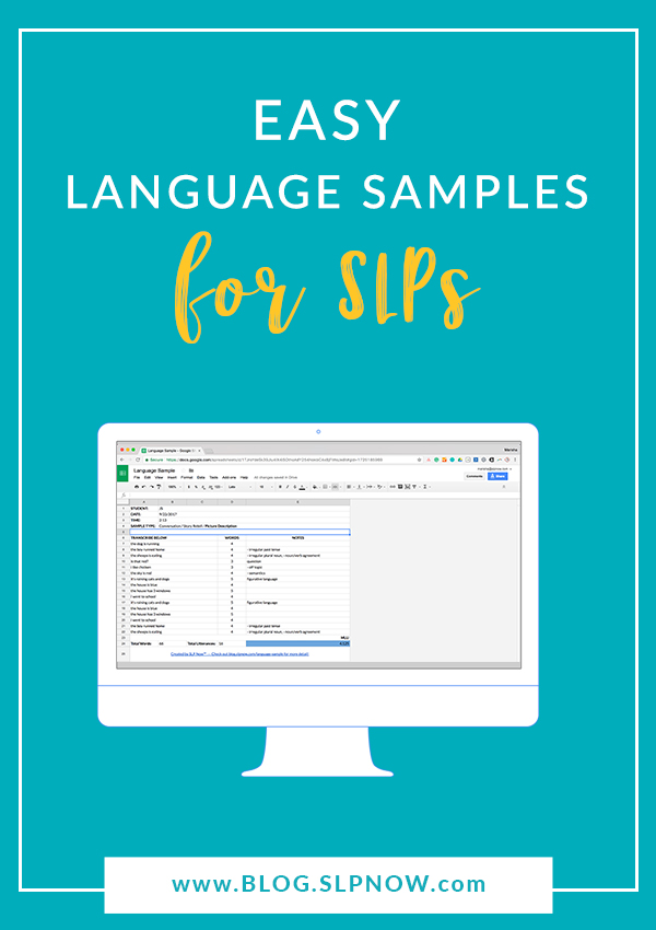 Check out this tool to simplify language sample collection. This quick hack can save you hours of time! I provide step-by-step instructions for how to use it in this post, so click through to read the full tutorial.