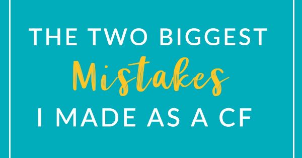When I was a CF, I realized I was making some mistakes - which is, of course, inevitable. But in this post, I'm sharing the two biggest mistakes I made, as well as how I fixed those mistakes with contextualized intervention. Click through to read what I did.