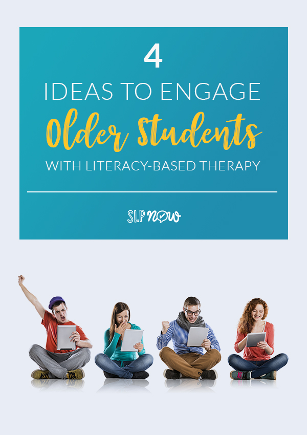 Eliminate boredom and frustration from your older students in speech therapy by trying out these four ideas for making speech more engaging! We all know it can be a struggle sometimes to get older students interested in our speech and language therapy sessions, but with these ideas, they won't even realize they're learning and practicing speech skills! Click through to read the full post.