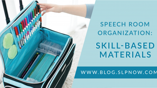 Do you need to work on your organizing skills in your speech room? This blog post is all about how I organized my tools and materials in my speech therapy room -- all as inspiration for you! As SLPs, we can accumulate a lot of stuff over the years, so speech room organization is a must in order to keep our little rooms from getting too crazy. Click through to learn more organizing skills for your speech room!