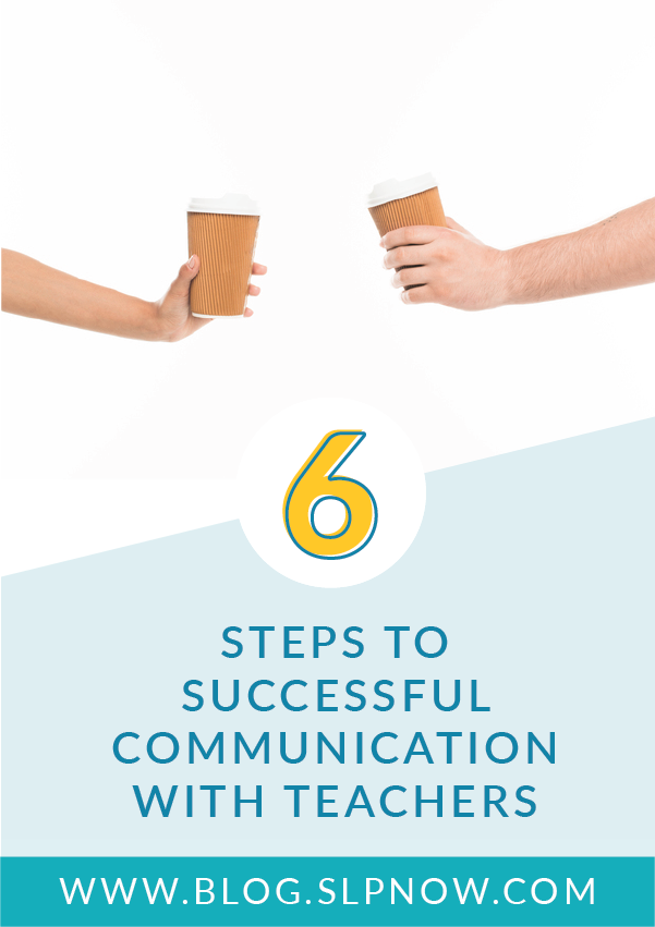 Working as an SLP is a rewarding career, but sometimes it feels isolating when we feel that our role is misunderstood or when there's a disconnect with other school staff. This blog post shares six steps to successful communication with teachers to help you work hand-in-hand with the teachers of your speech students!