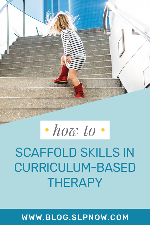 When SLPs work with students in speech therapy, it's essential that they scaffold skills to support students in mastery of their goals. This blog post explains more about structural scaffolds and interactive scaffolds for speech therapy. Click through to learn how best to utilize scaffolding as an SLP!