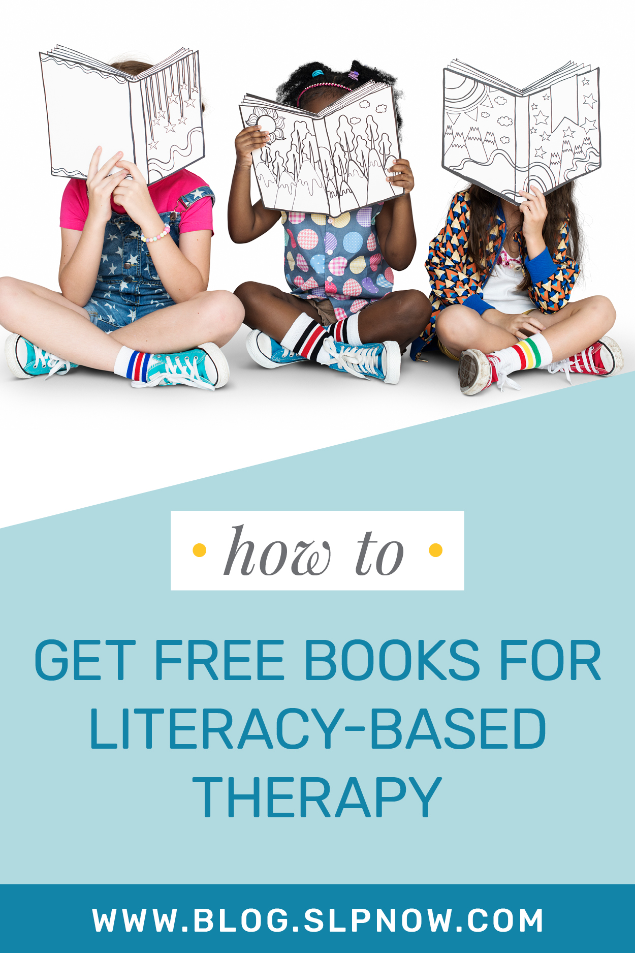 Need ideas for where you can get free books for literacy-based therapy? SLP Now is sharing seven ideas for getting free books -- or at least for getting access to free e-books -- in this blog post! Click through to read about these sources so that you can enhance your resources for speech therapy.