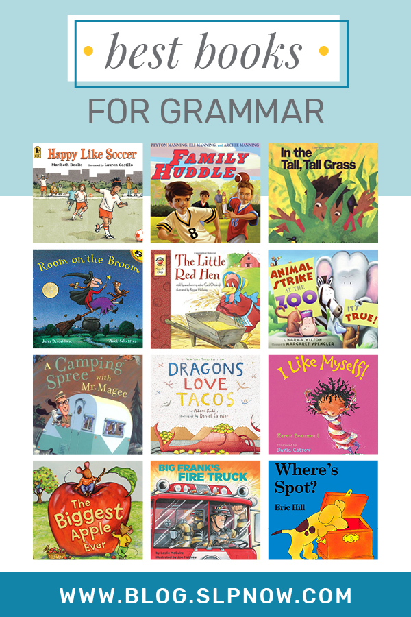 I love sharing tips and tricks to help SLPs implement literacy-based therapy, but it's not always easy to find the perfect book for you mixed group! I'm always on the hunt for amazing books to use in therapy, so I put together a series of blog posts that highlight my favorites. First up is: The Best Books For Grammar! Click through to find the full list of 24 books on the blog.