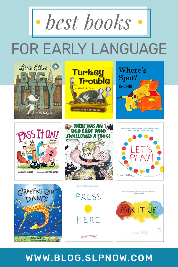 I love sharing tips and tricks to help SLPs implement literacy-based therapy, but it's not always easy to find the perfect book for your mixed group! Because I'm always on the hunt for amazing books to use, I put together a series of blog posts that highlight my favorites. This week is all about: The Best Books For Early Language! Click through to find all 9 books, plus a brief description of each.