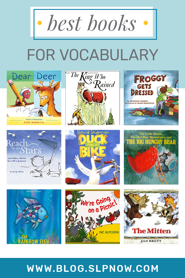 It can be a challenge to find the perfect book when you're trying to implement literacy-based therapy with a mixed group -- one that I know that struggle all too well. Because I'm always on the hunt for amazing books to use, I put together a series of blog posts that highlight some of my favorites. This week is all about: The Best Books For Vocabulary! Click through to find all 15 books, plus a brief description of each, over on the blog!