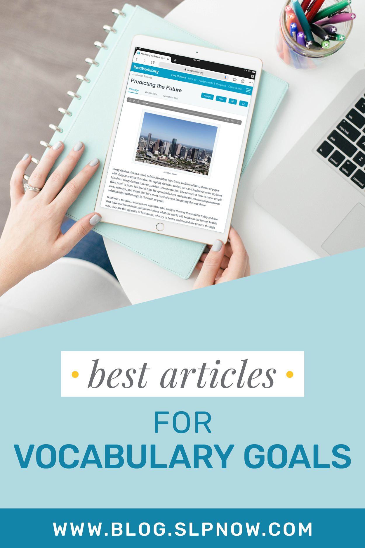 It's not always easy to find the perfect text when you're implementing literacy-based therapy with a mixed group, because I know that the struggle is REAL (and am always on the hunt for amazing reading resources to use)! I wrote some blog posts that highlight some my favorite texts to use in therapy. This week's list is full of articles that target vocabulary goals! Click through to find all 9 titles, plus a brief description of each, over on the blog!
