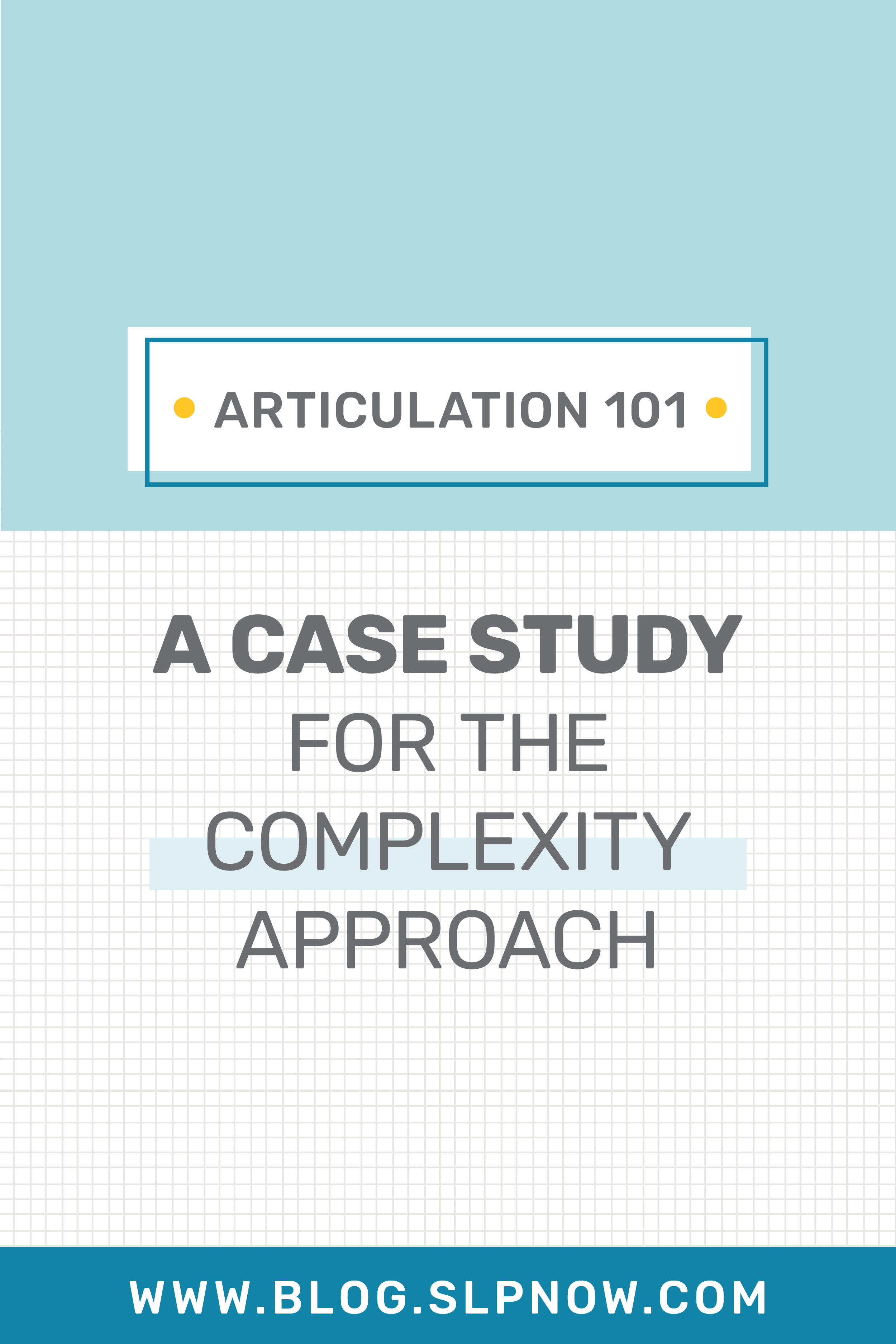 We're continuing our series about Articulation Therapy over
