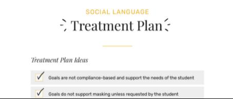 Social Language Treatment Plan